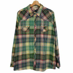 Ariat Womens Plaid Fitted Snap Front Shirt